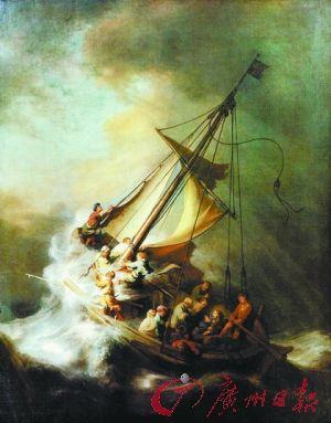 伦勃朗《加利利海上风暴》,1990年被盗于美国波士顿伊莎贝拉·斯图尔特·加德纳博物馆。