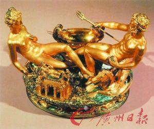 本韦努托·切利尼创作的金饰雕塑《盐碟》,2003年被盗于维也纳艺术史博物馆。