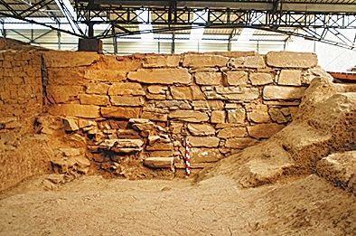 新安县汉函谷关遗址的关城东墙南部。图片来源:新华社 河南文物网