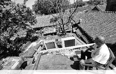 南文昌胡同8号被认定为文物,屋顶上的筒瓦留有马神庙痕迹摄/法制晚报