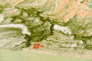 石鲁的名画《山区修梯田》