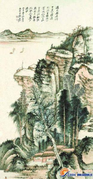 张大千 《拟石溪溪山留客图》