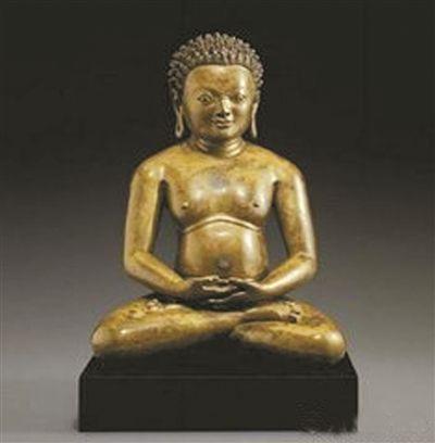 西藏铜瑜伽士坐像