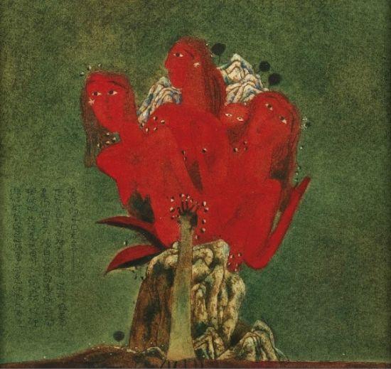 张晓刚:《遗梦集:拥在一起的生灵》(1988),估价为90万-120万港元。