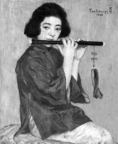 方君璧作品《吹笛女》