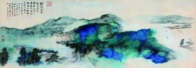 张大千 灵岩山色图 纸本设色 1981年 该作为龙美术馆藏品