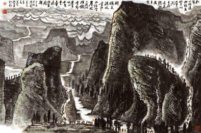 李可染 长征 设色纸本 96×146.5cm  1959年作 成交价:1.0752亿元 中国嘉德供图
