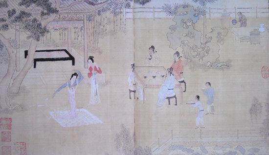 """秦淮冶游图册-""""歌舞"""""""