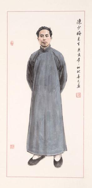 视频孟喜元绘陈少梅书画v视频_中国肖像折纸鹤方法画家的千图片