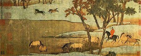 赵孟頫的《秋郊饮马图》