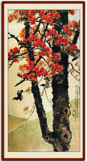 《岭南春色》 陈树人 现藏于中国美术馆