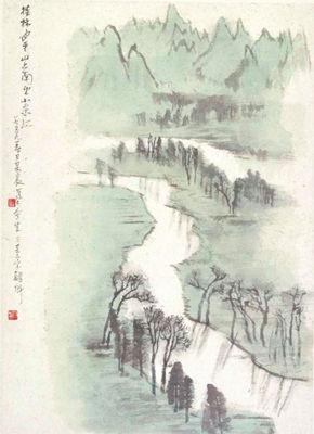 北京画院展出李可染写生精品