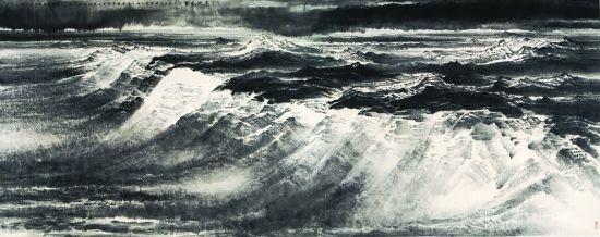 大地风骨,许钦松,650x230cm,2009年。