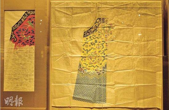 """香港歷史博物館7月31日起推出香港歷來最大型的清朝宮廷服飾展覽""""國採朝章——清代宮廷服飾"""",會展出130多件珍品,包括圖中首次曝光的宮廷服製衣紙樣。來源:香港《明報》"""