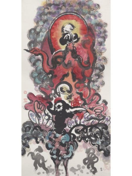 妙禅法师禅画展在宋庄艺术区举办