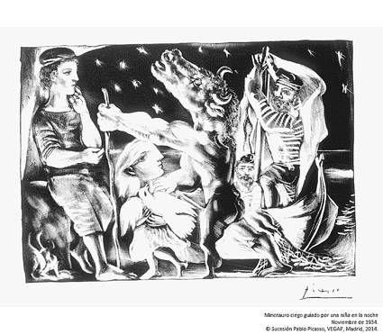 """被誉为""""二十世纪版画巅峰之作""""的""""毕加索:沃拉尔系列版画""""展,高清图片"""