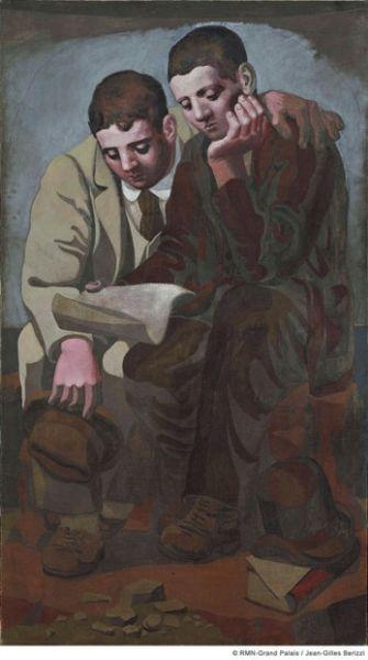 《读信》巴勃罗・毕加索184cm×105cm布面油画1921年毕加索博物馆藏