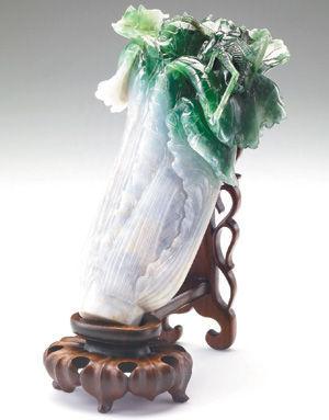 翠玉白菜。來源:台灣《聯合報》