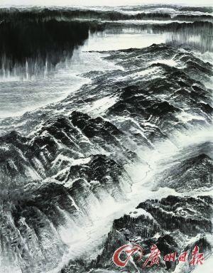 《海雨山风》 中国画 许钦松