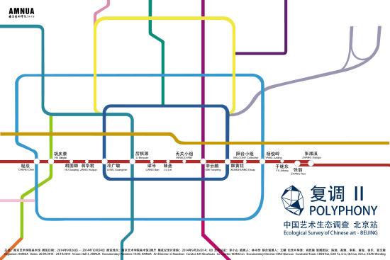 """""""复调II""""――中国艺术生态调查・北京站 官方海报"""