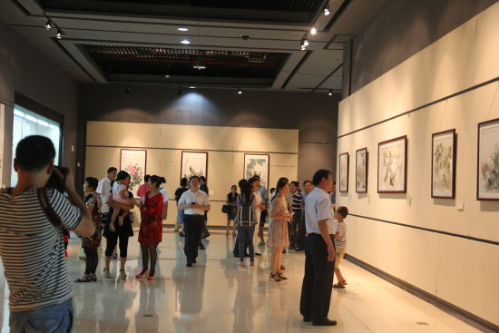 细山林培铭中国画展在惠州博物馆举行