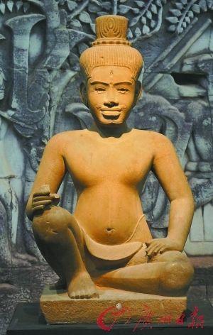 柬埔寨80件高棉文物真品亮相广东省博