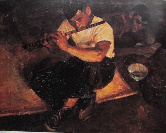 俞云阶1963年作《笛声》