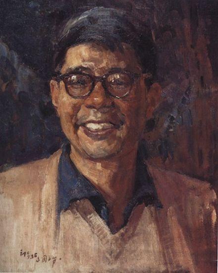 俞云阶1963年作《自画像》